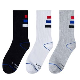 Wholesale Korean High Knee Socks - 2017 Men High Quality Winter new Korean long socks Harajuku tide socks dead flying skate sports socks deodorant sweat free shipping