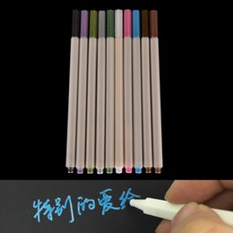 Wholesale Highlight Markers - Wholesale- Kawaii cute solid Waterproof Permanent Paint Marker Pen highlight pen stationery material escolor caneta gift Highlighters Pens