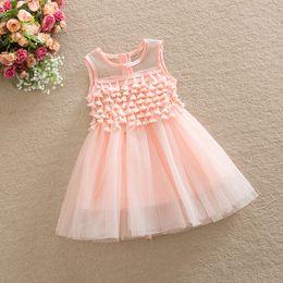 Wholesale Kids Purple Tutu Dresses - Kids Girls Tassel Organza Dress Ruffles Princess Party Dress White Pink and Purple Color Dresses 5p l