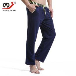 Wholesale Lower Pajama - Wholesale- Men cotton long pants Men's casual trousers soft comfortable Men's Sleep Bottoms Homewear pants pajama loose Lounge