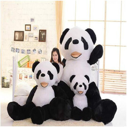 Wholesale Toys Bear Biggest - giant plush panda bear skin 130cm 180 cm 260cm Biggest Lovely Soft Huge Giant panda factory price high quality free shipping