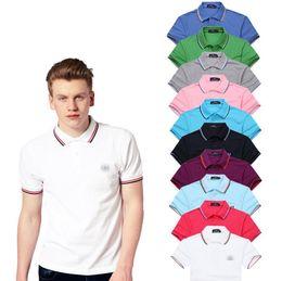 2019 брендовая футболка поло горячие продажи 2017 лето горячие продажа рубашка поло бренд Polos мужчины с коротким рукавом Спорт Поло человек пальто падение Бесплатная доставка дешево брендовая футболка поло