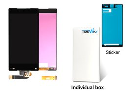 Wholesale Touch Screen Lcd Xperia - white or black 4.6'' LCD For Sony Xperia Z5 Compact mini E5803 E5823 LCD Display Touch Screen with Digitizer Assembly +Tools