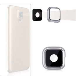 Wholesale S3 Lens Camera - 10pcs lot Rear Back Camera Glass Lens Cover Ring Adhesive For Samsung Galaxy S3 S4 S5 i9300 i9500 G900F