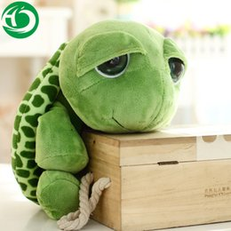 Wholesale Tortoise Stuffed Animal - 20 cm New arriving Green Big Eyes Turtle dolls Cute Soft plush Tortoise high quality Funny Stuffed Animal Toy Gift for kids
