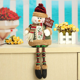 Wholesale Tree Doll Ornaments - Wholesale- Special Offer ! ! Hot Sale Santa Claus Snow Man Reindeer Doll Christmas Decoration Xmas Tree Hanging Ornaments Pendant Best Gift