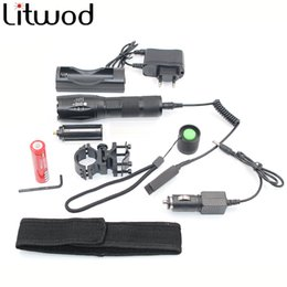 Wholesale Waterproof Aluminum Led Light - Led Flashlight XM-L T6 Adjustable Led Torch light zoomable Tactical High-quality aluminum alloy material choose accessories