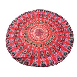 Wholesale Beach Towels Beige - Wholesale- Yoga Mats Multicolor Round Beach Pool Home Shower Towel Blanket Table Cloth Yoga Mats Activing New