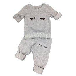Wholesale Cow Neck Shirt - Wholesale- 2017 spring autumn baby girl clothes casual long-sleeved T-shirt+Pants suit Tracksuit the cow suit of the girls clothing