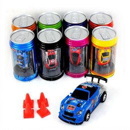 Wholesale Racer Cars - 2018 free DHL 8 color Mini-Racer Remote Control Car Coke Can Mini RC Radio Remote Control Micro Racing 1:64 Car 8803 christmas gift