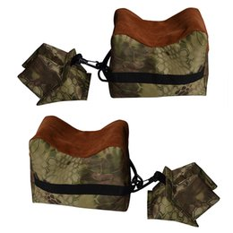 Wholesale Gym Bag Accessories - Portable Camouflage Shooting Front Rear Rear Gun Rest Bag Set Rifle Target Hunting Bench Unfilled Stand Hunting Gun Accessory
