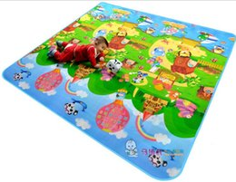 Wholesale Baby Meter - Baby Crawling Play Mat 2*1.8 Meter Climb Pad Double-Site Fruit Letters And Happy Farm Baby Toys Playmat Kids Carpet Baby Game