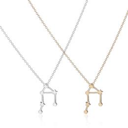 Wholesale Libra Chain - Wholesale-2016 New Libra Zodiac Signs Astrology Necklace Unique Constellation Star Pendant Necklaces for Women Cute Party Necklace -N155
