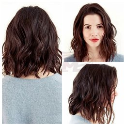 Wholesale Celebrity Real Hair Wigs - Glueless Full Lace Wig Bob Celebrity Natural Wave Style Short Bob Lace Front Wigs Real Malaysian Virgin Hair Women Virgin Human Hair Wigs