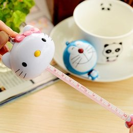 Wholesale Tailor Measurements - Kawaii Kitty Cat Doraemon Sewing Measurement Tape Retractable Cute Tailor Crafts Ruler Flexible Measuring Tools DIY Craft Rule 100cm 40inch