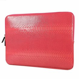 Wholesale Macbook Cases For Cheap - Snake Skin PU Leather Sleeve Case for Macbook Air Pro Retina 12 13 15 Inch Zipper Laptop Bag Cover for Lenovo Samsung Notebook Cheap price