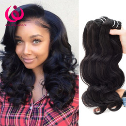 Wholesale Bella Weave - 8A Unprocessed Human Hair Brazilian Body Wave Sew In Soft and Thick Virgin Hair Extensions 100g Bella Remy Human Hair Weave Bundles