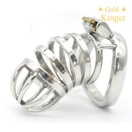 Wholesale Male Chastity Long - New Male Chastity Device Long Bird Cage Stainless Steel Chastity cage A276