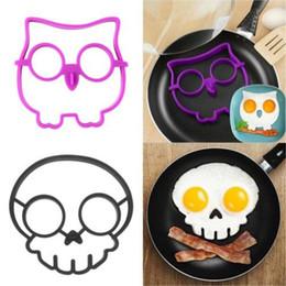 Wholesale Owl Silicone Mold - New arrival Novel Trendy Silicone Skull Owl SUNNYSIDE UP FRIED Silicone Fried Egg Mold Pancake Egg Cooking Tool #71792
