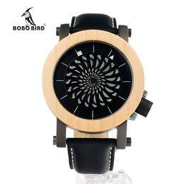 Wholesale Bird Mechanical - Wholesale- BOBO BIRD M07 Mens Mechanical Wristwatches Kinetic Art Skeleton Automatic Self-Wind Watch with Maple Bezel in Gift Wooden Box