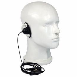 Wholesale Headset Ptt - 10 pcs Black D Loop PTT Earpiece For Motorola Walkie Talkie P6600 P6620 XPR3300 XPR3500 Headset C2264