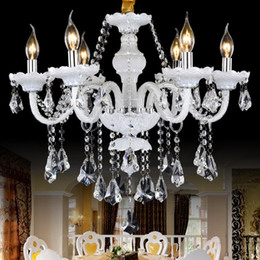 Wholesale Led Maria Theresa Chandelier - living room bedroom study crystal chandelier French romantic crystal chandeliers lamp 8 lights handmade glass art shade maria theresa lights