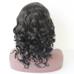 Wholesale African American Baby Hairstyles - 150% Density Glueless loose wave Wig Brazilian Full Lace Wig Wavy Lace Front Wig Human Hair Baby Hair For African Americans