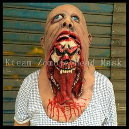 2019 зомби-маски 2017 горячая распродажа призрак зомби Маска Хэллоуин полная голова День Всех Святых Маска латекс жуткий страшный ужас монстр маска полная голова Дьявол зомби игрушка дешево зомби-маски