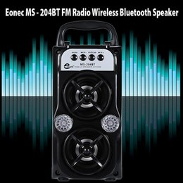 Wholesale Mp3 Bass Speakers - LED Wireless Bluetooth Portable Speaker with USB TF AUX FM Radio MS-204BT Outdoor Super Bass ( Black )
