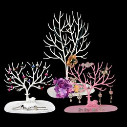 Wholesale Tray Crystal - Charming Deer Ring Tray Home Boutique Jewelry Necklace Ring Earring Beads Organizer Display Stand Love Gift Lady's Jewellery Holder