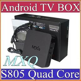 2019 mx tv box quad core 14X vente chaude MXQ android TV BOX Amlogic S805 Quad Core Android 4.4 1 Go de 8 Go lecteur multimédia en ligne Mise à jour MXQ Android TV Box A-TH