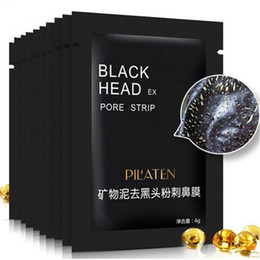 Wholesale Peel Off Mask Acne - PILATEN Tearing BLACK HEAD FACIAL MASK Nose Care Purifying Peel off Blackhead Close Pores Face Mask Remove Cleaner Deep Cleansing