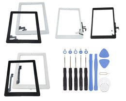 Wholesale Ipad Mini Touch Panel - For iPad 2 3 4 Touch Screen Glass Panel with Digitizer Buttons Adhesive Assembly For Ipad mini 1 2 Air Black and White With Repair tools