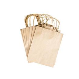 Wholesale White Kraft Paper Bags Wholesale - Wholesale-Elegant White Packaging Bags With Handle Kraft Paper Bag For Party Favors 12pcs