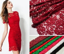 Wholesale Guipure Lace Dresses - 1Yard Width 150cm Hollow Flower Lace Cloth Guipure Lace Fabric For Apparel Sewing Wedding dress Diy Doll
