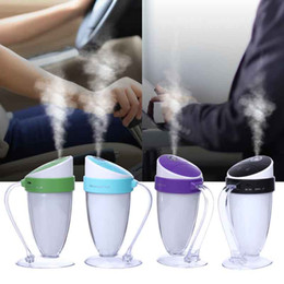 Wholesale Cup Mini Humidifier - newest Moonlight Cup Handheld mini USB LED Night Light Ultrasonic Humidifier car Creative Gift Air Purifier Mist Maker oil Purifier Atomizer