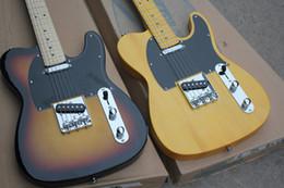 Wholesale Guitar Reissue - Custom Shop Wholesale High Quality Light Yellow Vintage 52 Reissue Butterscotch Blonde VS Sunburst TL Standard Electric Guitar