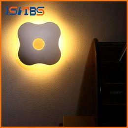 Wholesale Human Heart Halloween - Night Light Luminaria Floral Night Lights Human Body Auto Motion Baby Night Light Lamp Wall LED NEW Sensor Four Leaf Clover