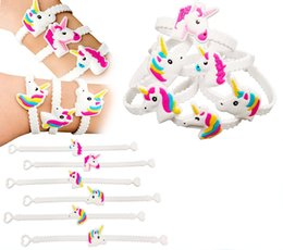 Wholesale Wholesale New Toys China - 2017 new arrival 8 styles  set Magical Unicorn Party Novelty Toy Wristband for Children cute pony unicorn bracelets