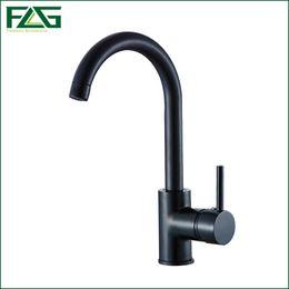 Wholesale Single Lever Mixer Kitchen Faucet - FLG Basin Faucet Black Deck Mounted 360 Degree Swivel Vegetables Basin Sink Tap,Cold Hot Single Lever Kitchen Sink Mixer M275