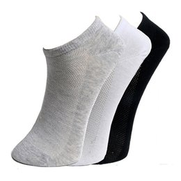 mesh hausschuhe großhandel Rabatt Wholesale-Fashion New Quality Frauen Bootssocken Classic Black White Grey Sommer Stil Cool Mesh Design Söckchen Slippers Kostenloser Versand