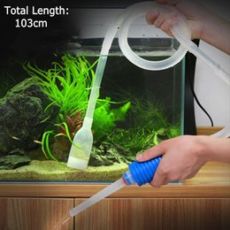 Wholesale Suction Vacuum Cleaners - 103cm Aquarium Manual Cleaner Tool Siphon Gravel Suction Pipe Filter Fr Fish Tank Vacuum Water Change Pump Tools Unique