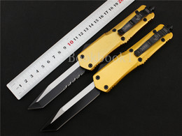 Wholesale Tools For Camping - microtech troodon A07 Yellow handle 2 models Hunting Folding Pocket Knife Survival Knife for tactical survival gear knives hand tools
