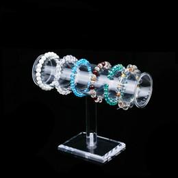 Wholesale Acrylic Rod Clear - Clear Acrylic Bracelet Display Stand Beaded Bracelets Bangle Holder Round Rod Jewellery Displays for Desktop Jewelry Boutique Shelf