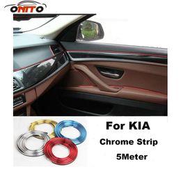 Wholesale Door Sill Kia - 5 Meter decorative chrome car strips auto embelm decoration strips Best selling for Rio Ceed Sportage Soul Cerato K2 k3 k5 Sorento Vengar
