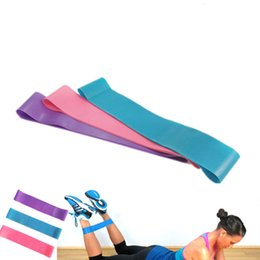 Wholesale Pilates Resistance Bands Purple - Tension Resistance Band Pilates Yoga Rubber Resistance Elastic Bands Fitness Loop rope Stretch Bands Crossfit Band Bodybuilding