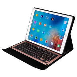 Wholesale Slim Magnetic Ipad Cases - Slim Aluminum wireless Bluetooth Keyboard case For ipad pro 12.9 flip magnetic tablet cover for Ipad 12.9 case with keyboard