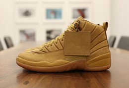 Wholesale Pe Basketball - 2017 PSNY x Air Retro 12 Wheat for Men Basketball Shoes public school PE high quality retro 12s sports shoes sneakers US 8-13