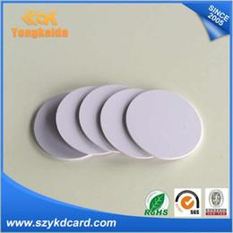 rfid t5577 Rebajas Al por mayor- 1000PCS t5577 Leer y reescribir etiqueta de RFID de 125KHz RFID Etiqueta de la moneda del PVC Envío gratis