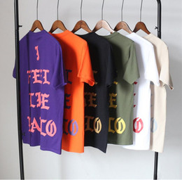 Wholesale T West - Kanye West i feel like pablo Short Sleeve Tshirt Men Brand Summer Black Tee Shirt Men Cotton Casual High Quality Funny T-shirt Men